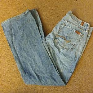 7 For All Mankind size 28 flare blue jeans